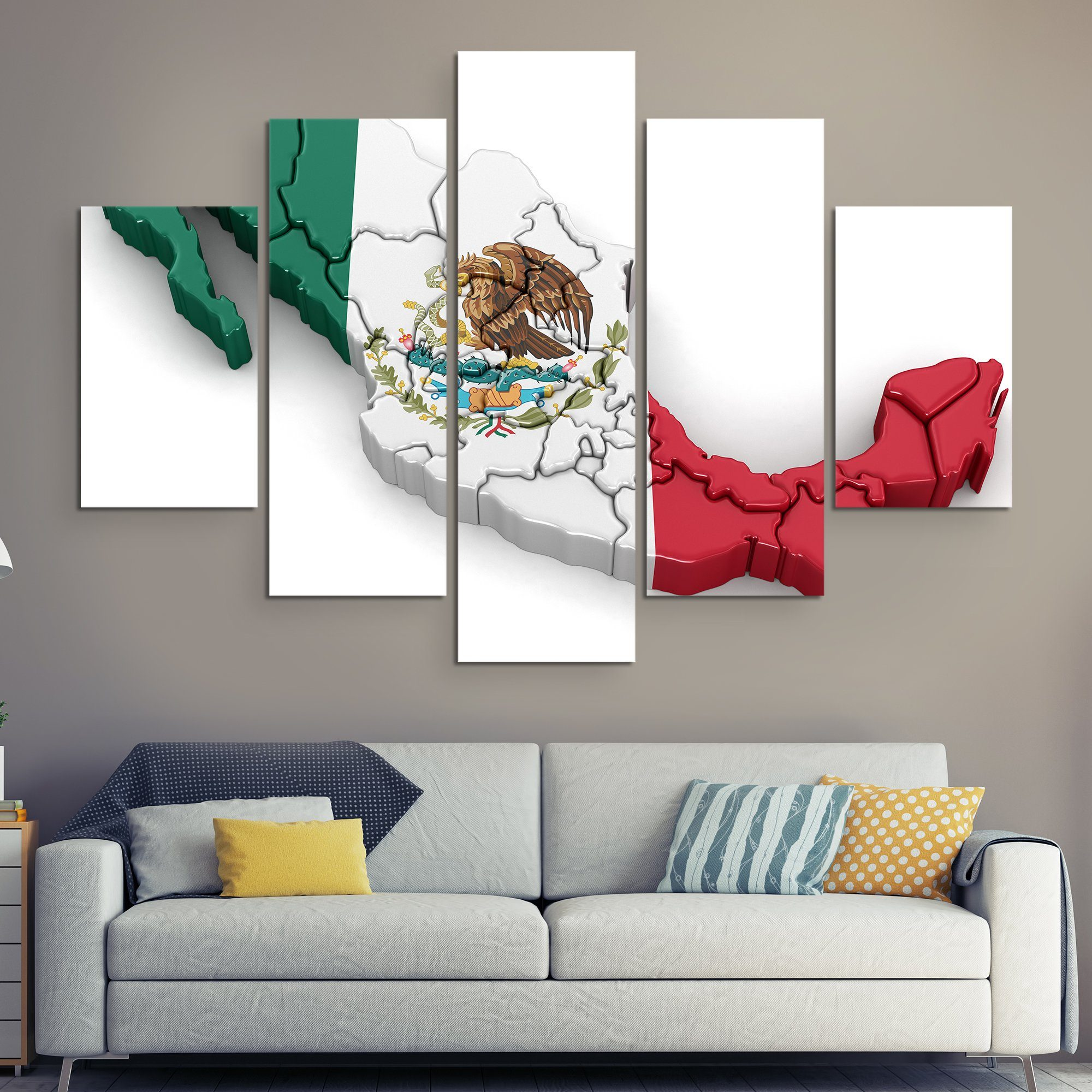 5 piece Mexico wall art