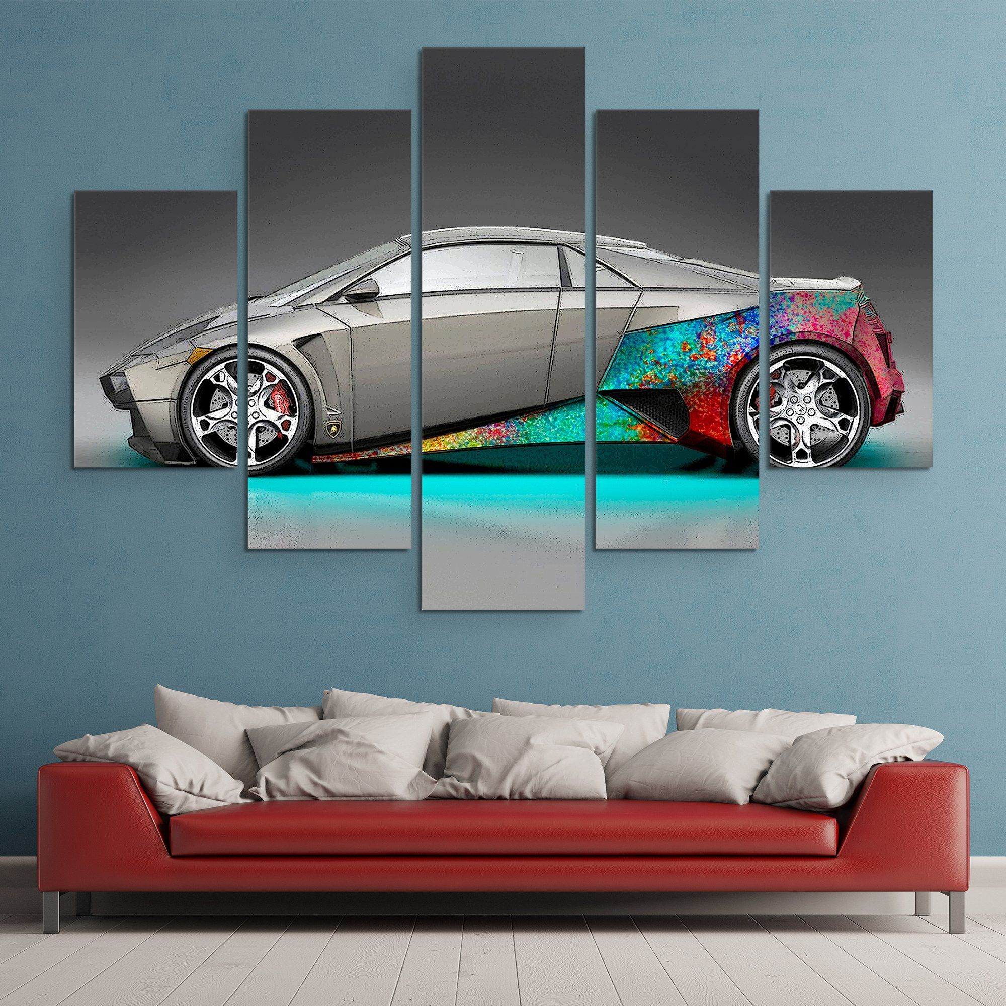 5 piece Lambo McFly wall art
