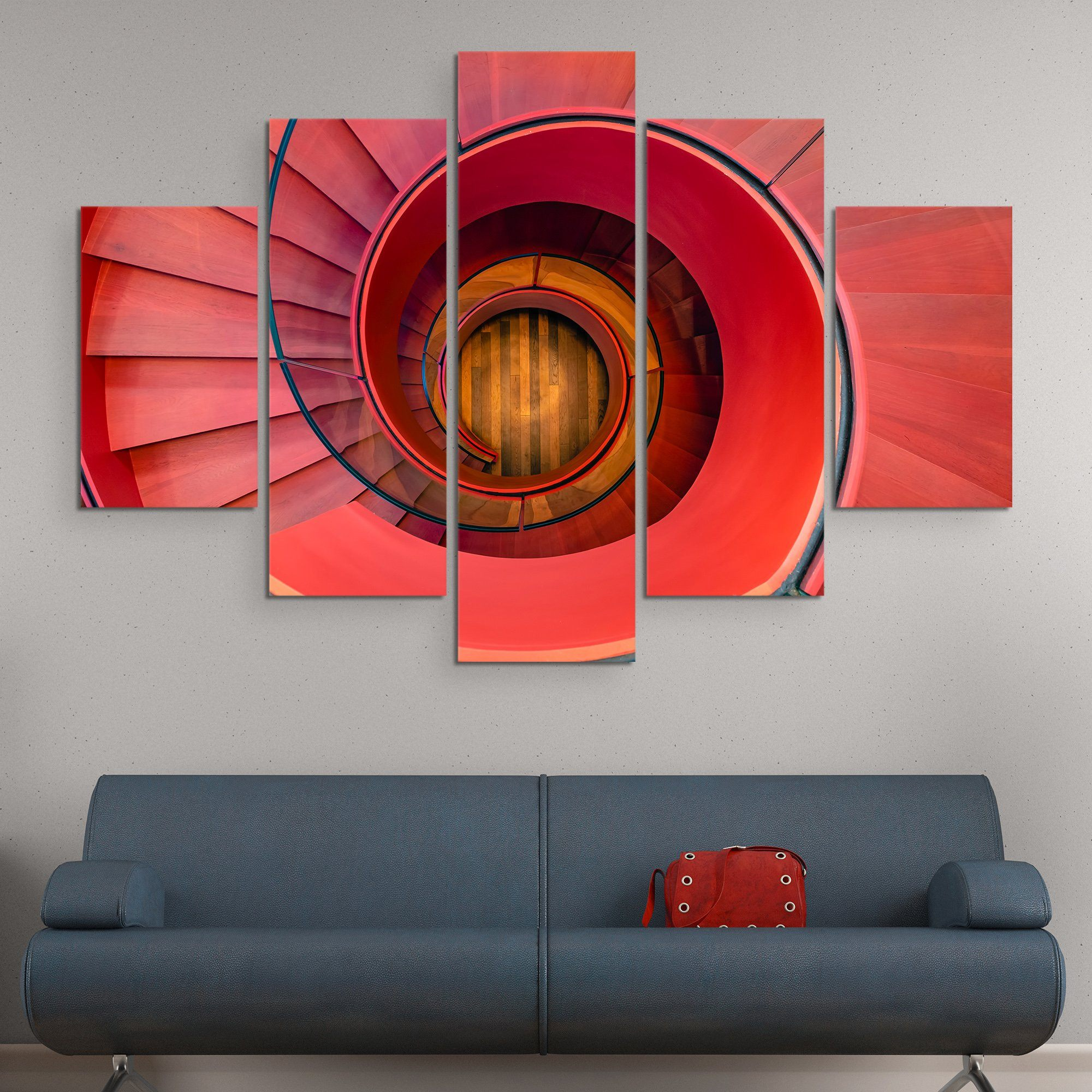 5 piece Spiral Staircase wall art