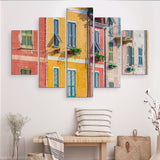 5 piece Architecture in Italy wall art