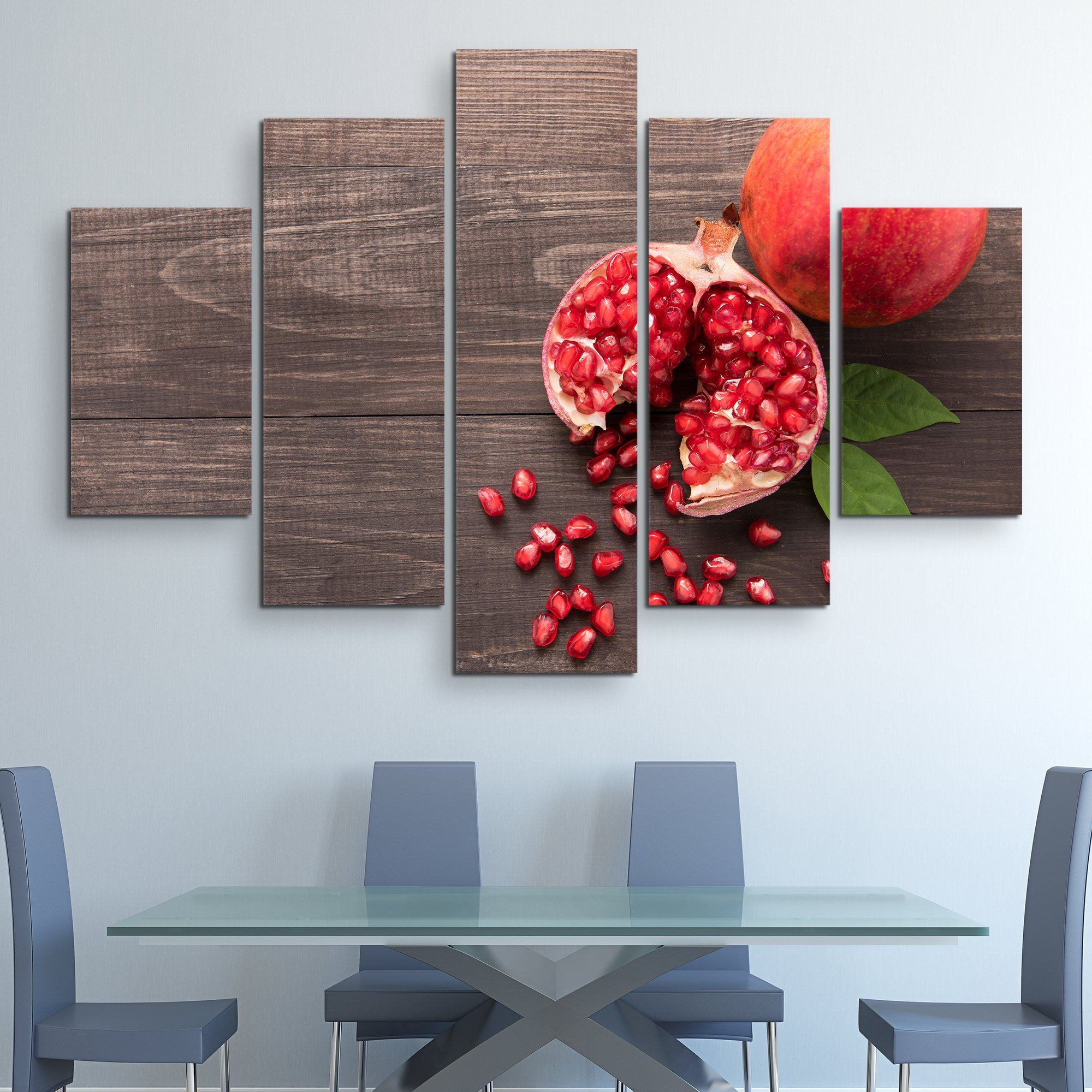 5 piece Pomegranate wall art