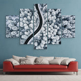 5 piece Snow-covered Forest wall art