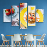 5 piece Happy Meal wall art