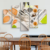 5 piece Kitchen Utensils wall art