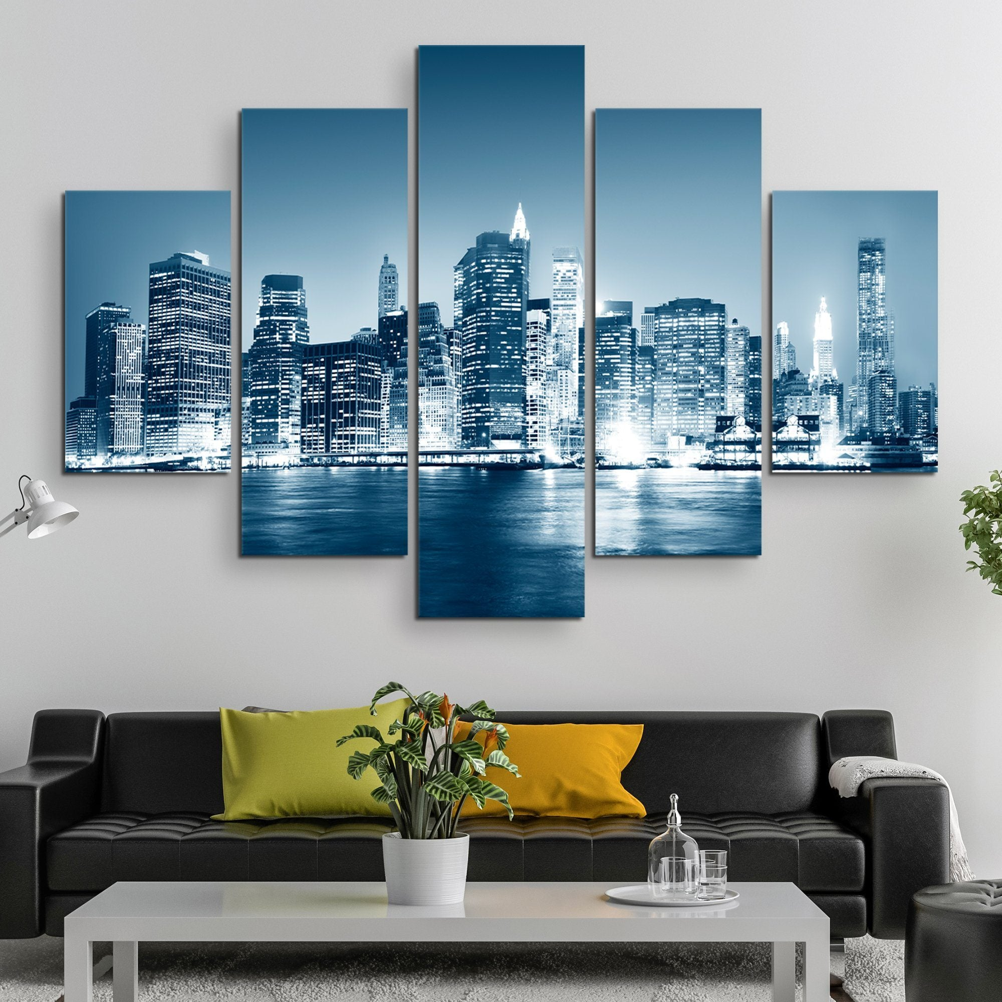 5 piece Night in New York wall art