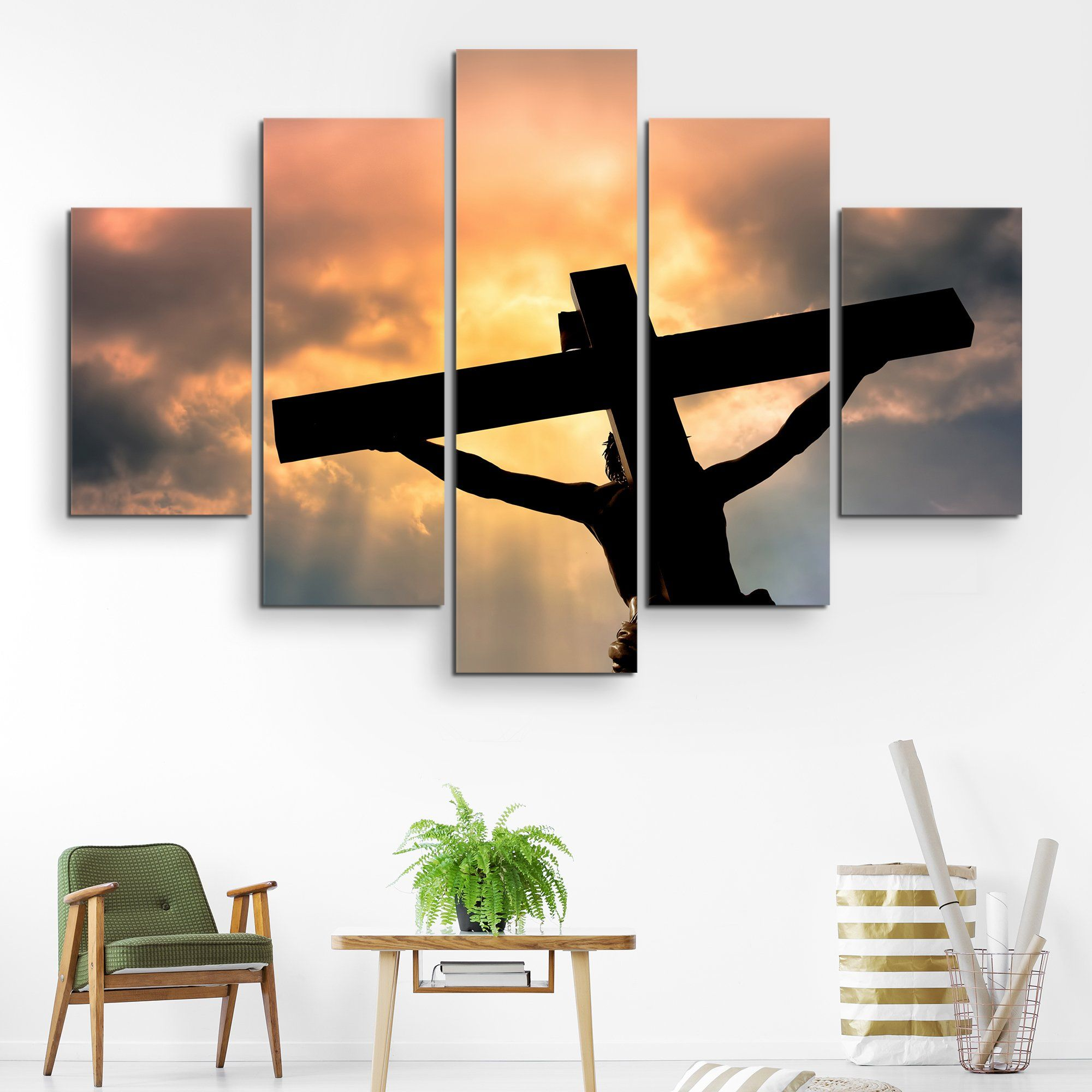 5 piece Jesus Christ's Sacrifice wall art