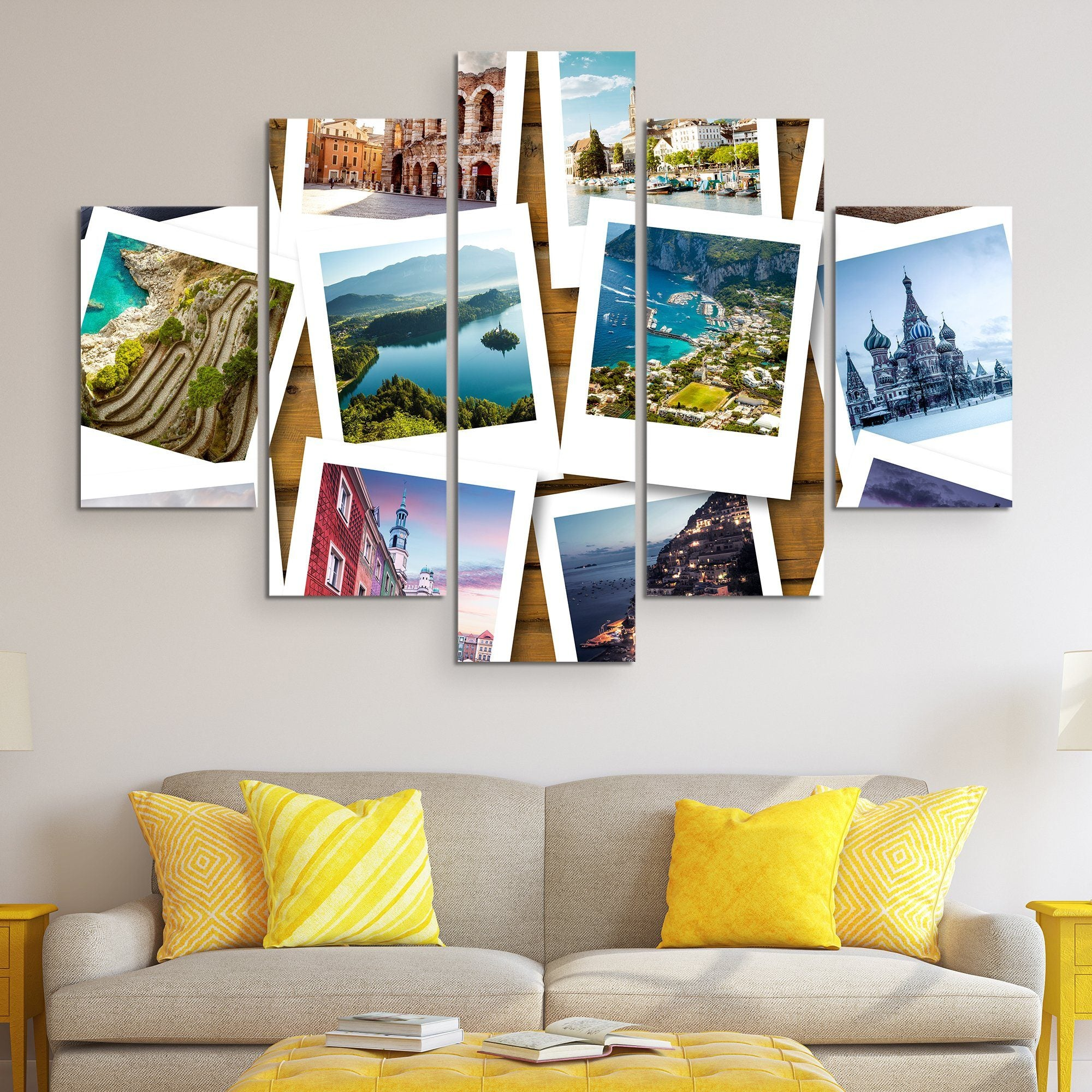 5 piece Bucket List wall art