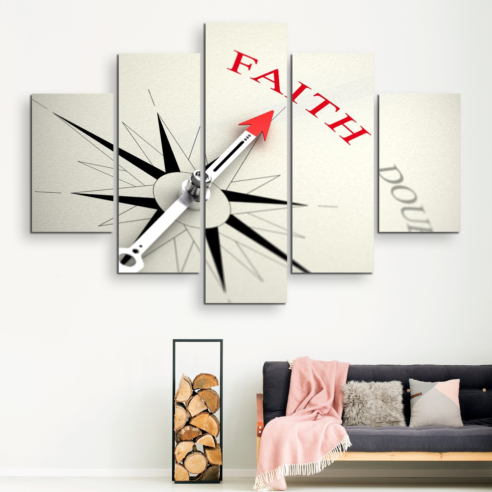 5 piece Point on Faith wall art