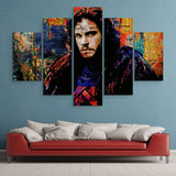 5 piece Jon Snow wall art