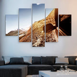 5 piece Car in a Mountain wall art