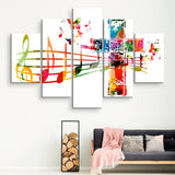5 piece Sound of the Cross wall art