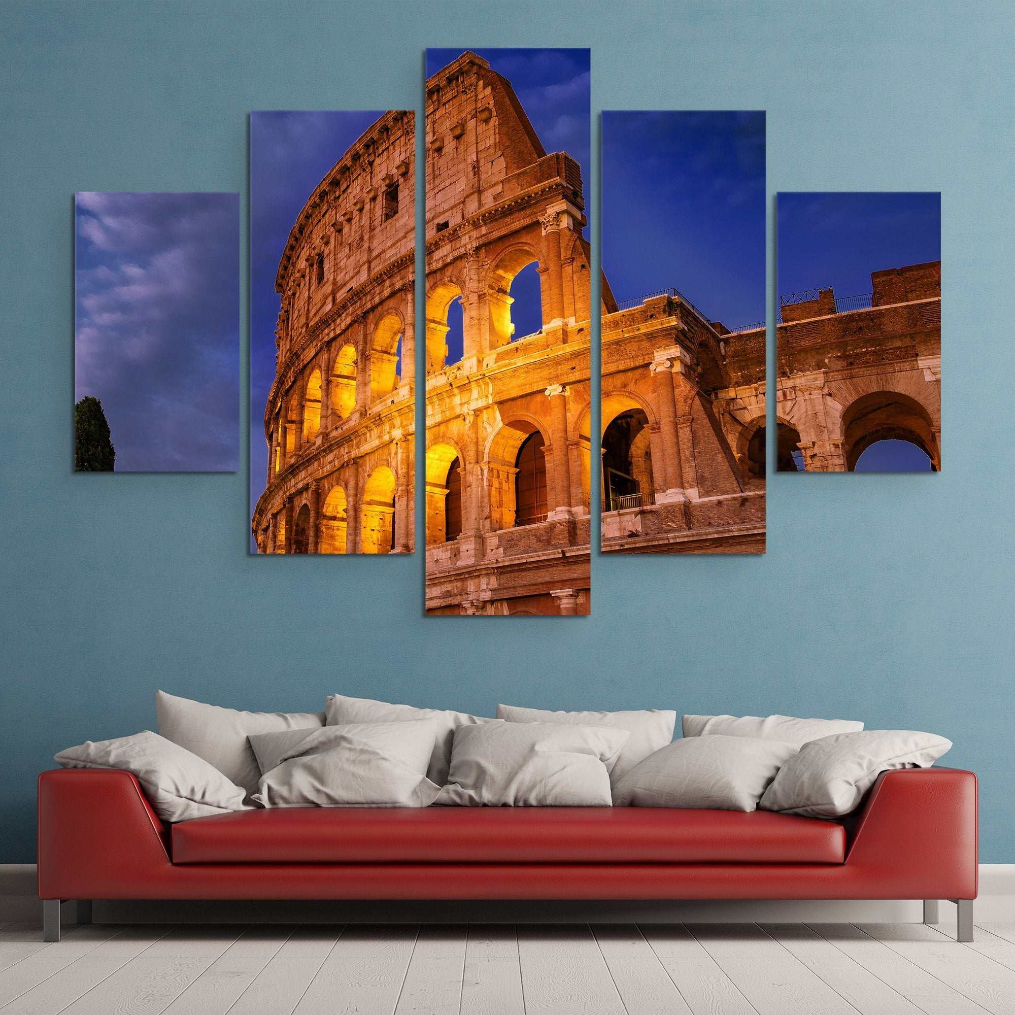 5 piece Colosseum wall art