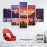 St Mary Lake wall art 5 piece