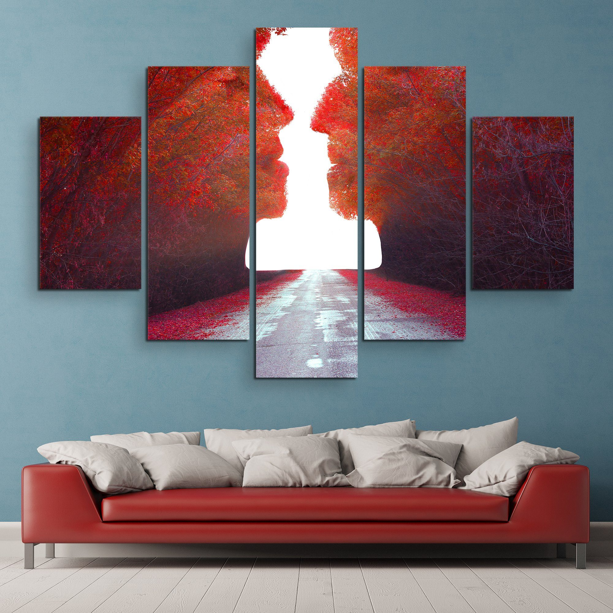 5 piece Road to Love wall art