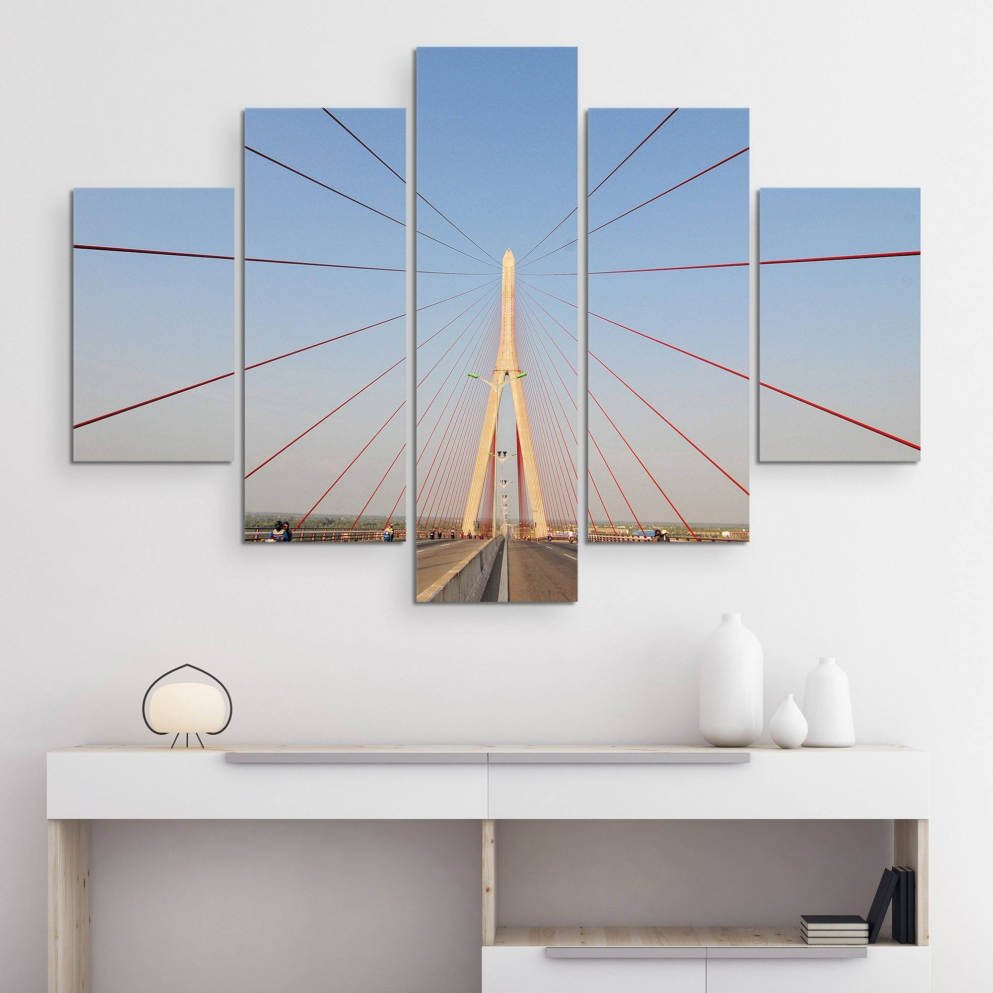 5 piece Structural Bridge wall art