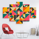 5 piece Vibrant Spectacle abstract wall art