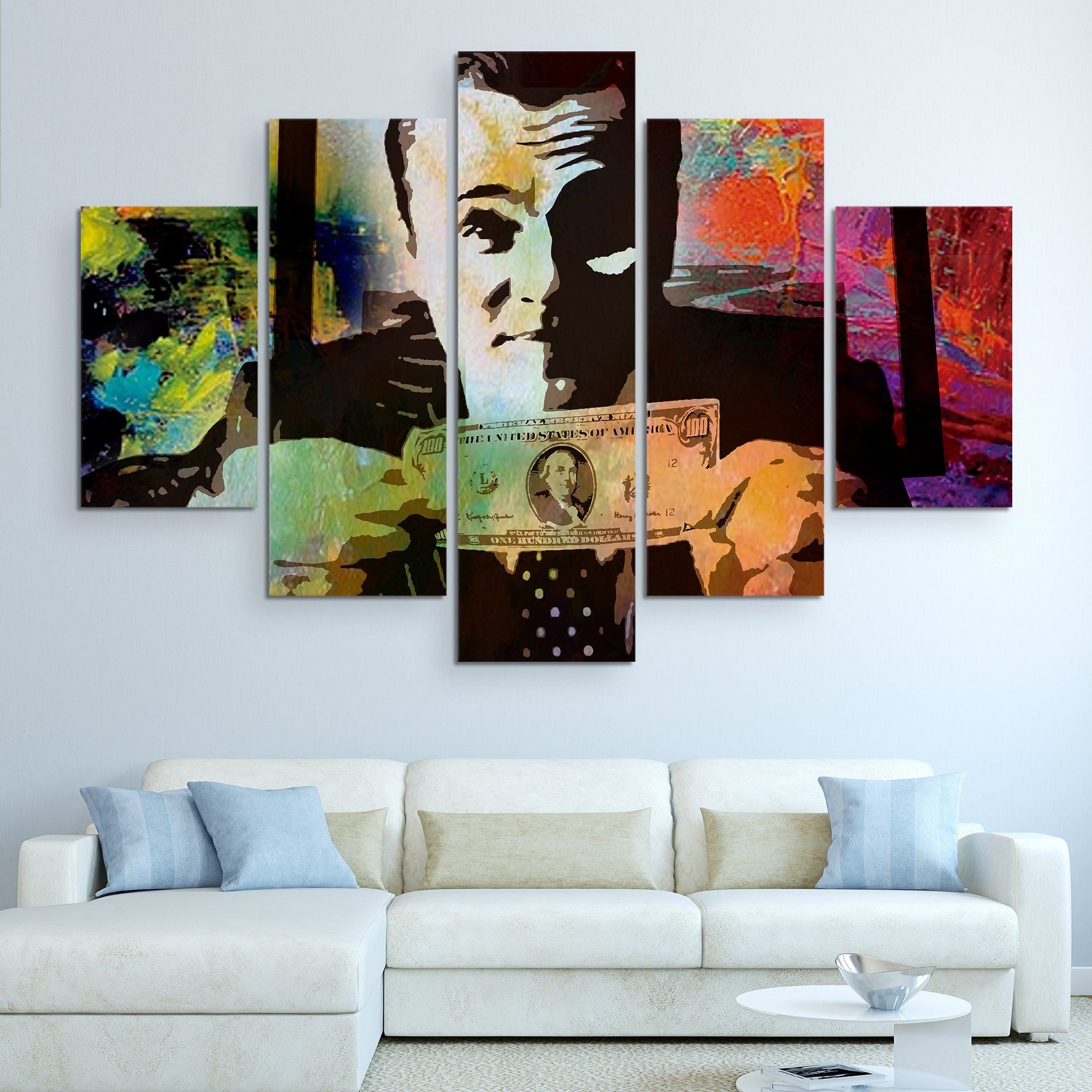 5 piece Money Talks wall art