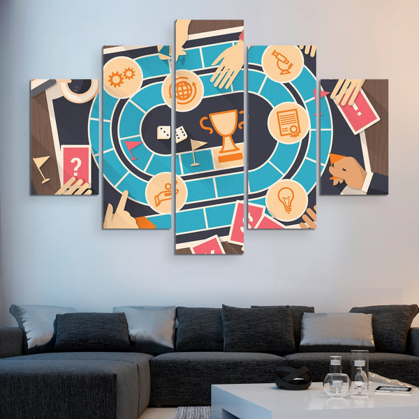 5 piece Board Game wall art
