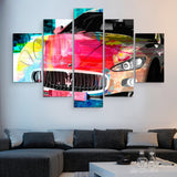 5 piece Maserati Nights wall art