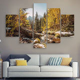 5 piece Rocky Mountain wall art