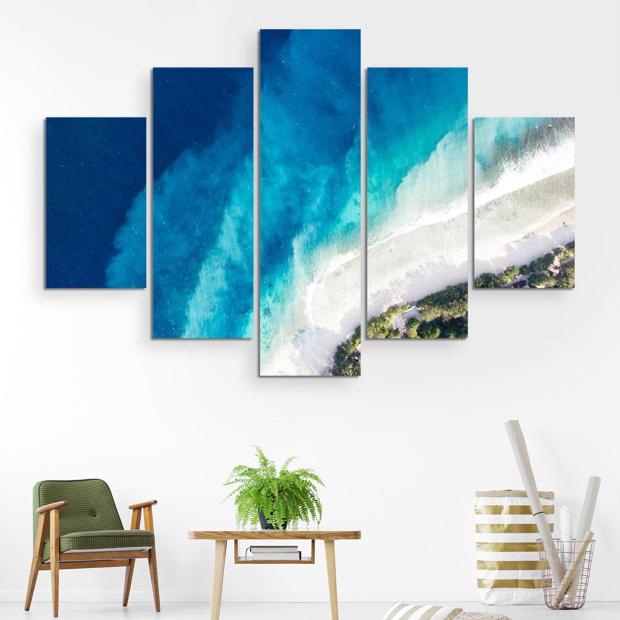 5 piece Top of the seabed wall art
