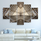 5 piece Metal Structure wall art
