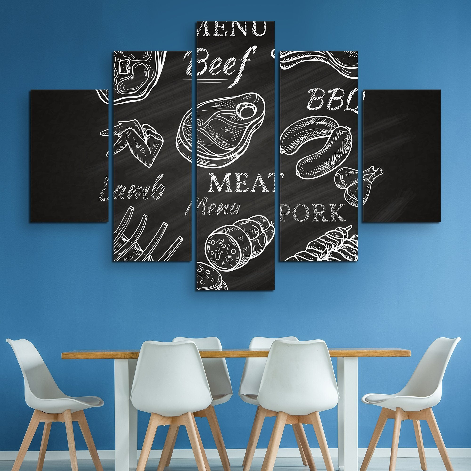 5 piece Menu wall art