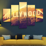 5 piece Hollywood wall art