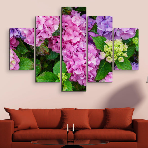 5 piece Hydrangea Flowers wall art