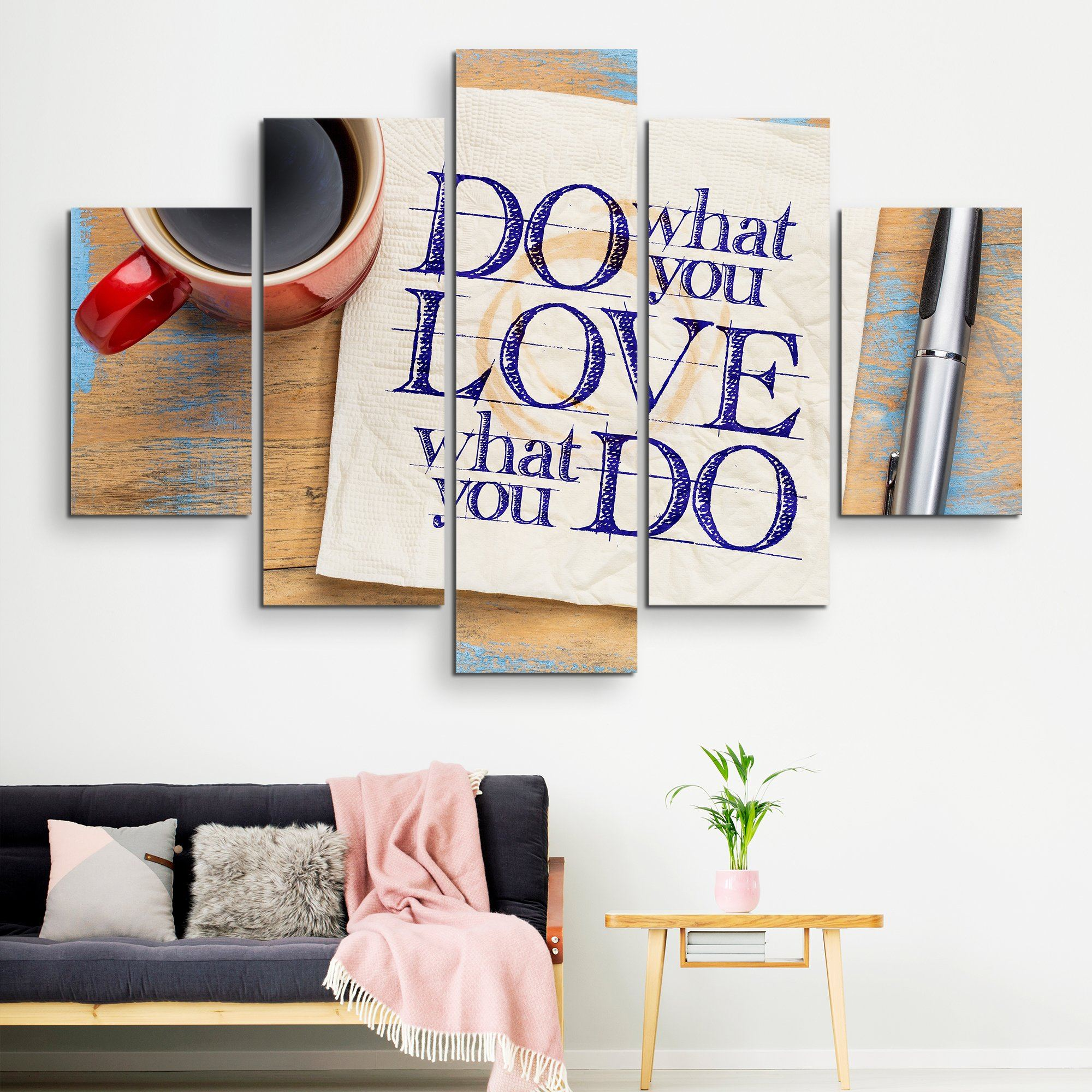 5 piece Do What You Love wall art