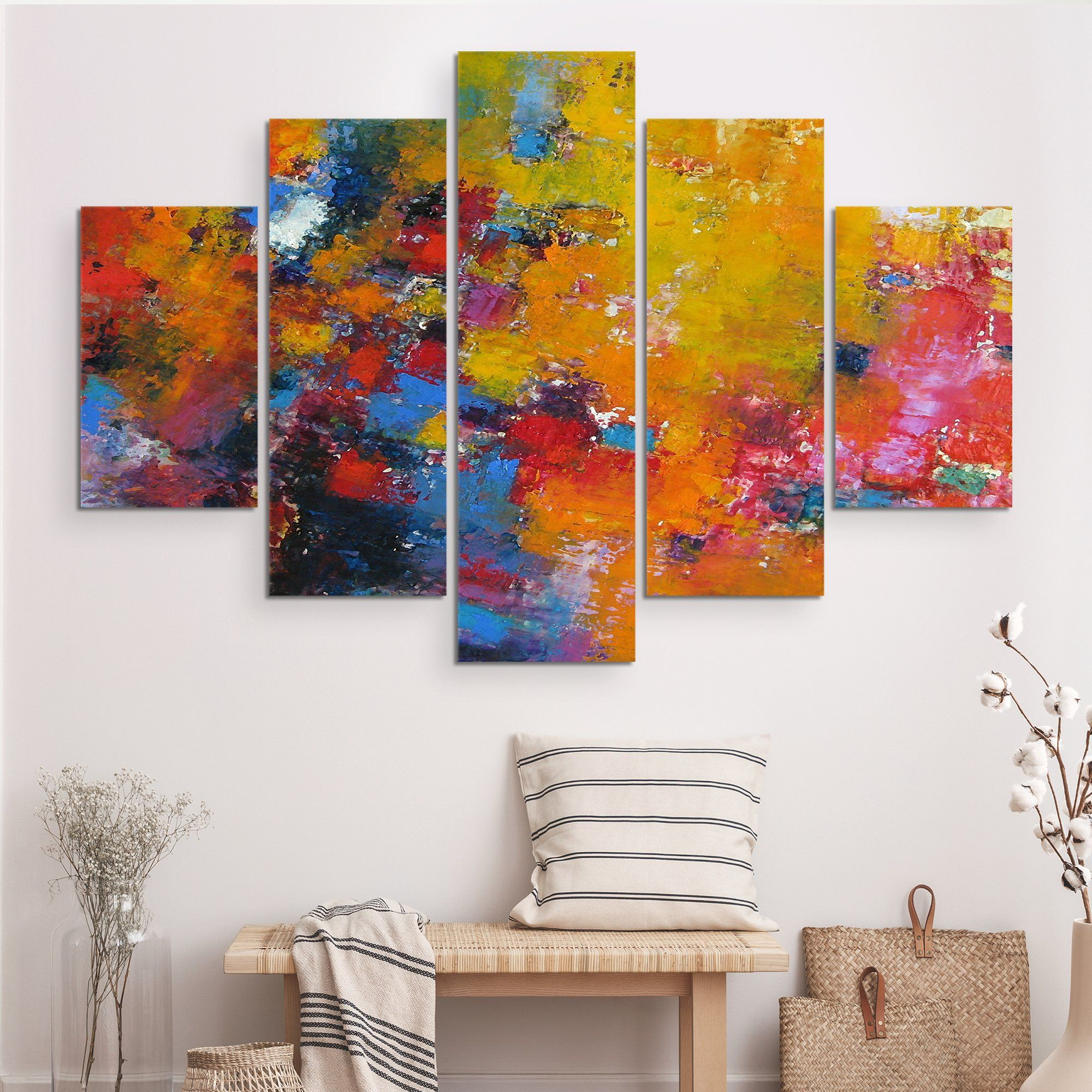 5 piece Rhapsody Of Spirit abstract wall art