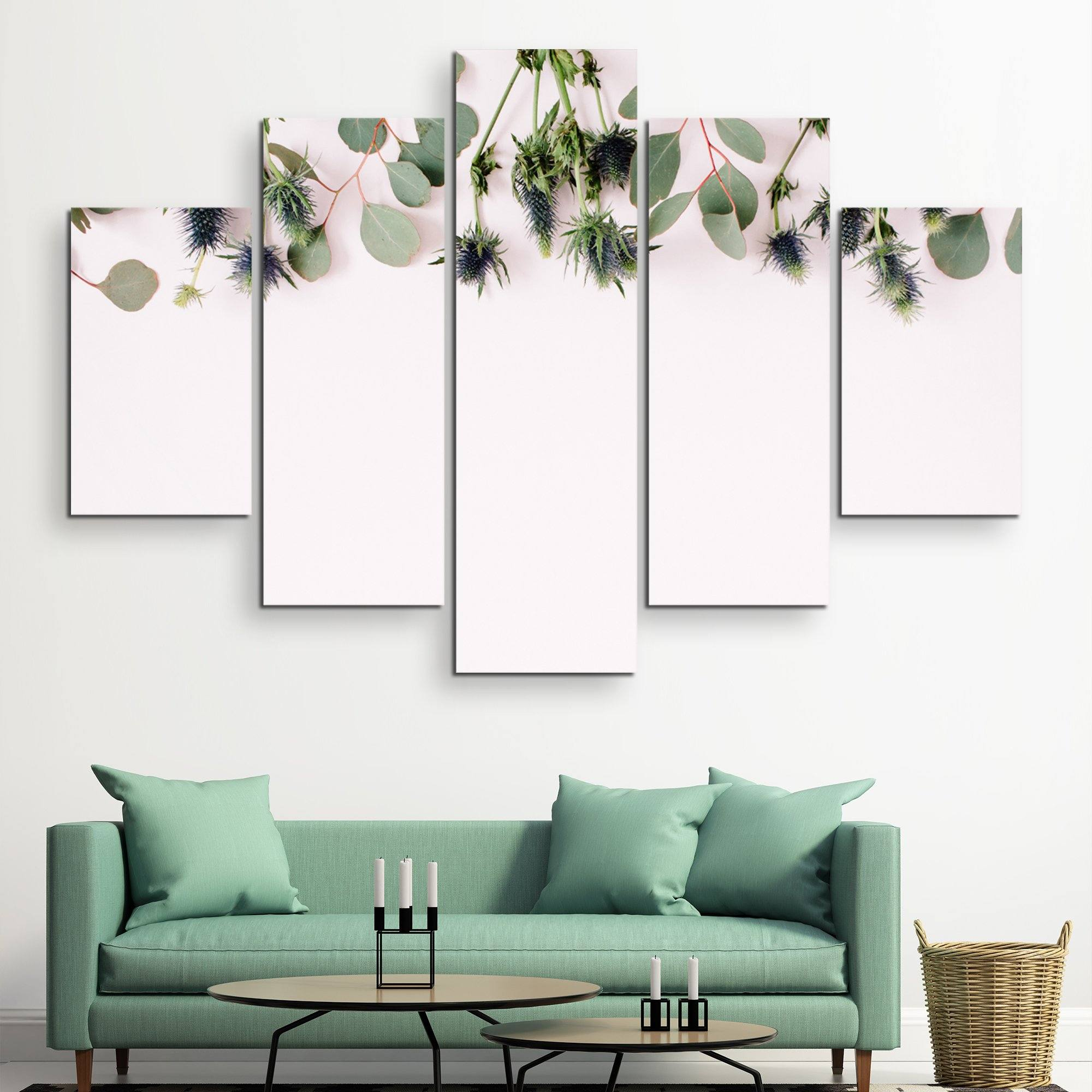 5 piece Eucalyptus Branches wall art
