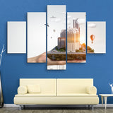 5 piece In the Palm of Your Hand wall art