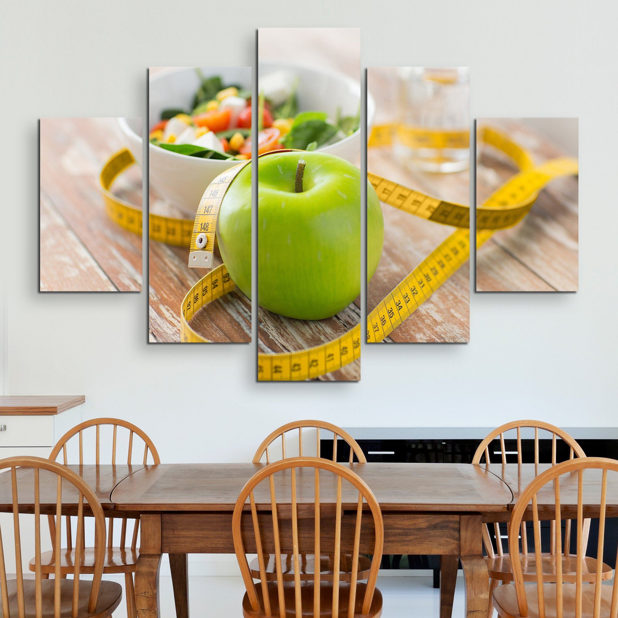 5 piece Apple wall art