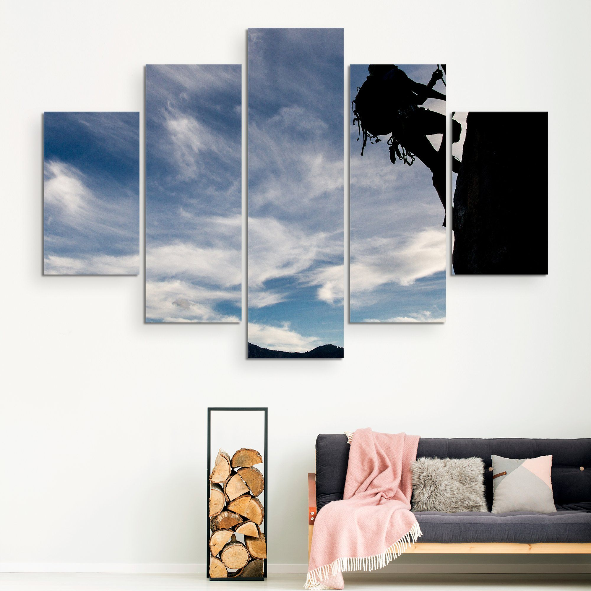 5 piece Mountain Climber wall art