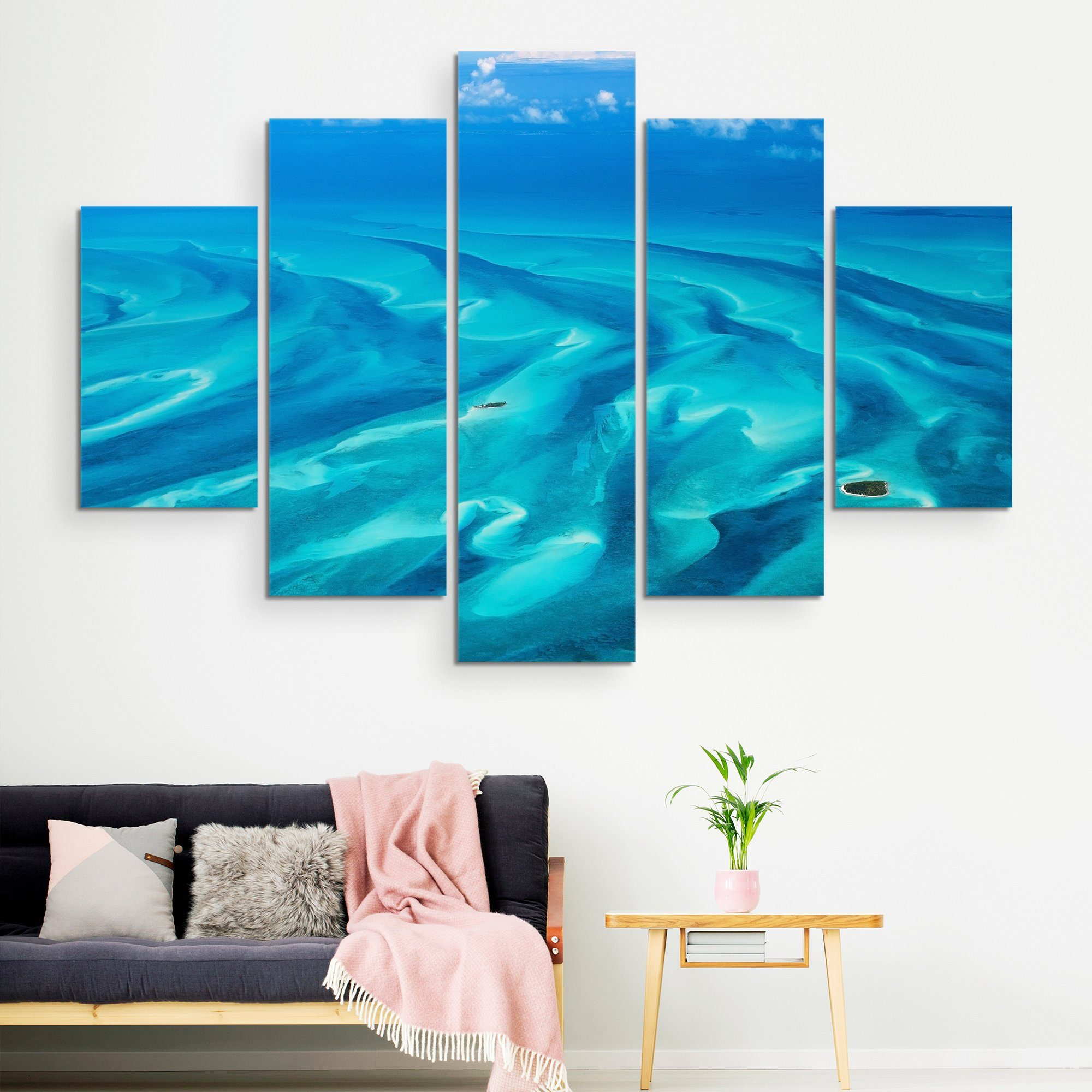 5 piece Beautiful Bahamas wall art