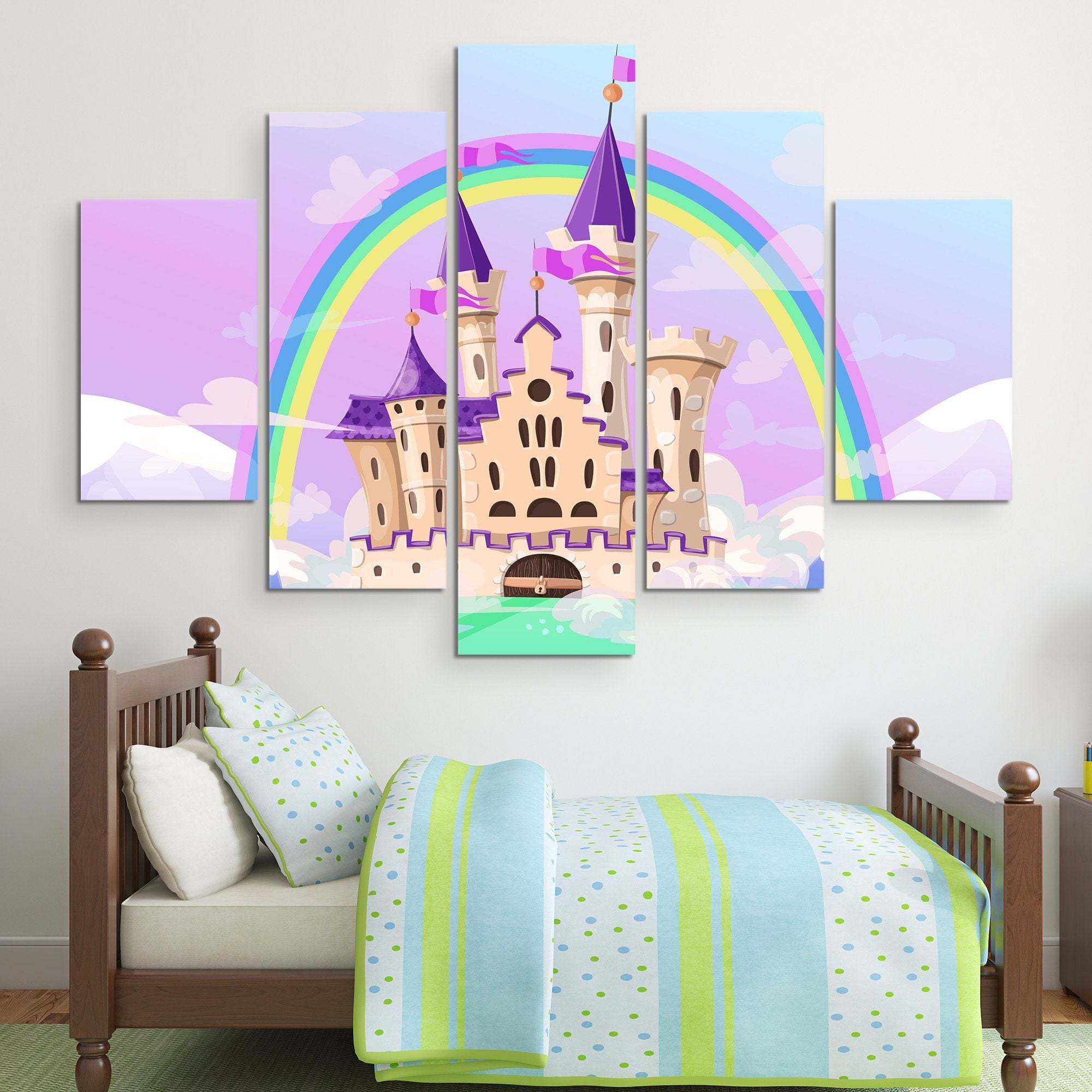 5 piece FairyTale Palace wall art