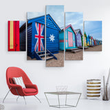 5 piece Australia Flag House wall art