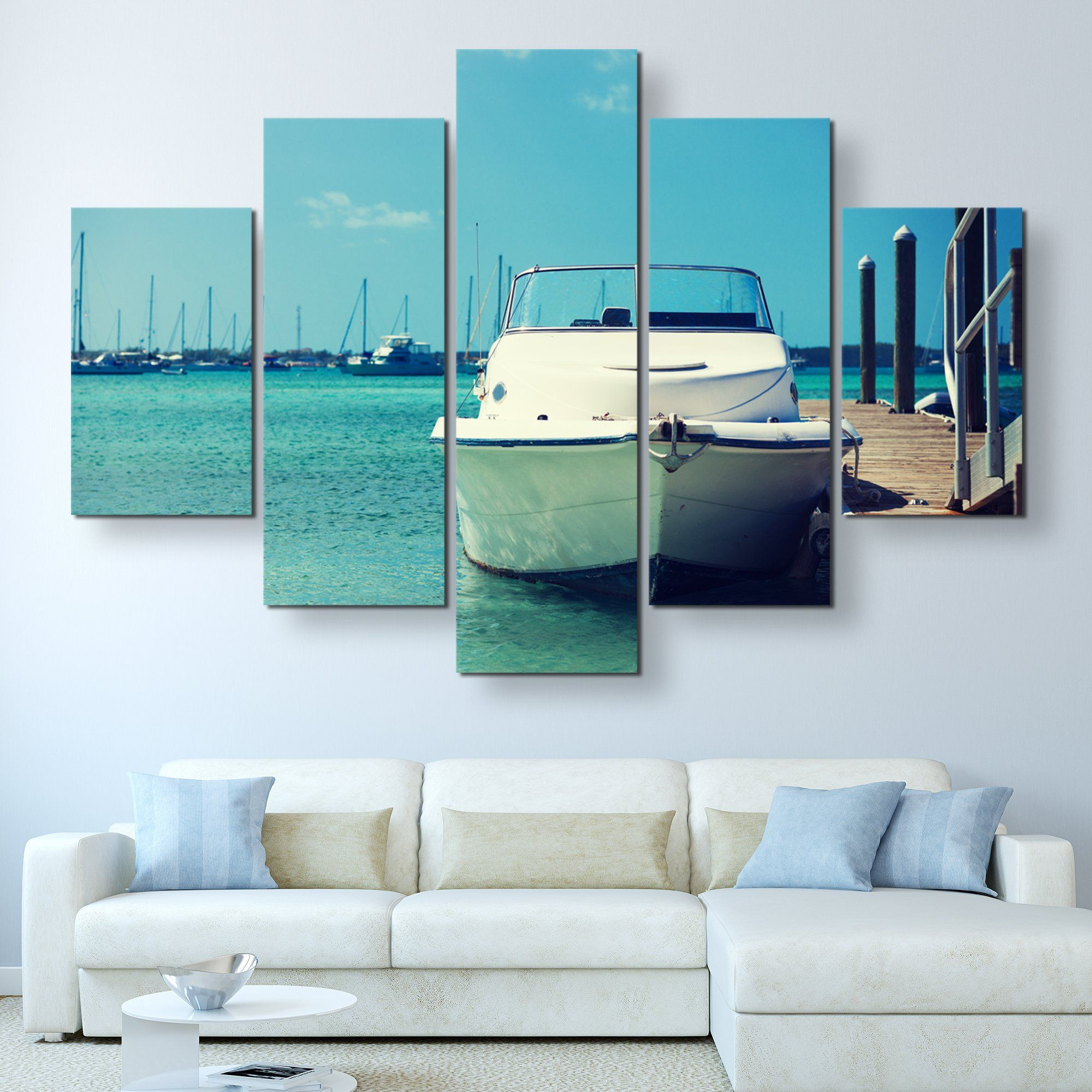 5 piece Travel and Sea wall art