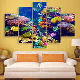 5 piece Coral Reef wall art