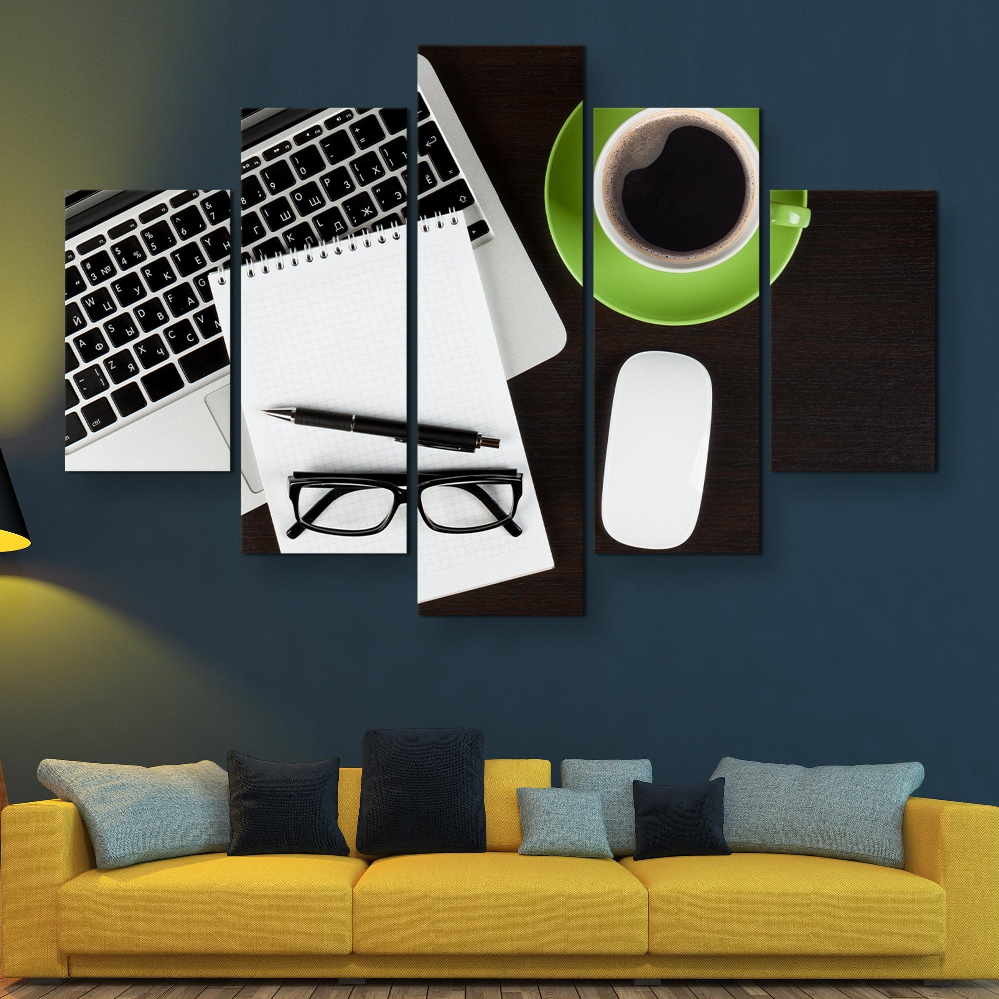 5 piece Coffee Break wall art