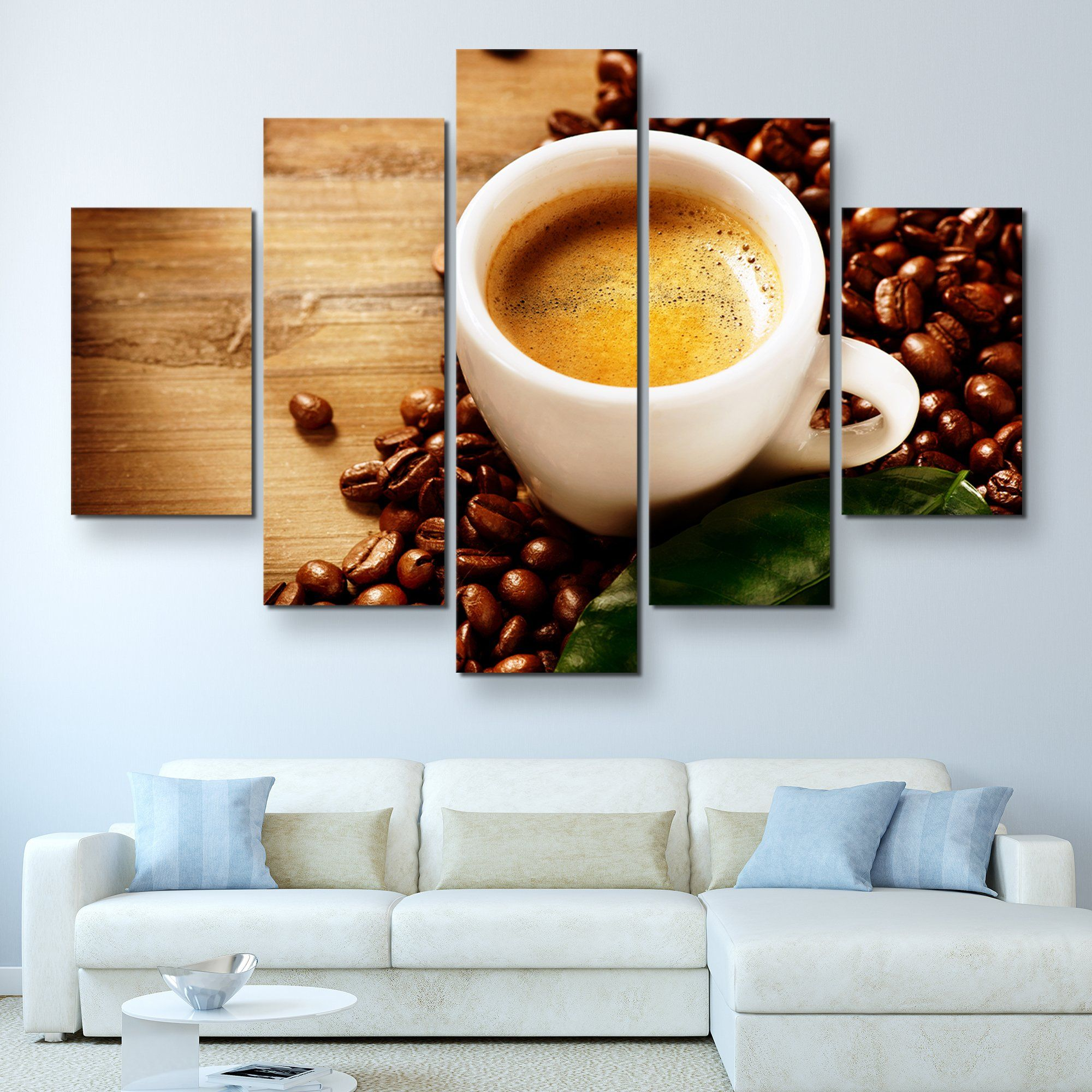 5 piece Cup of Coffee Espresso wall art
