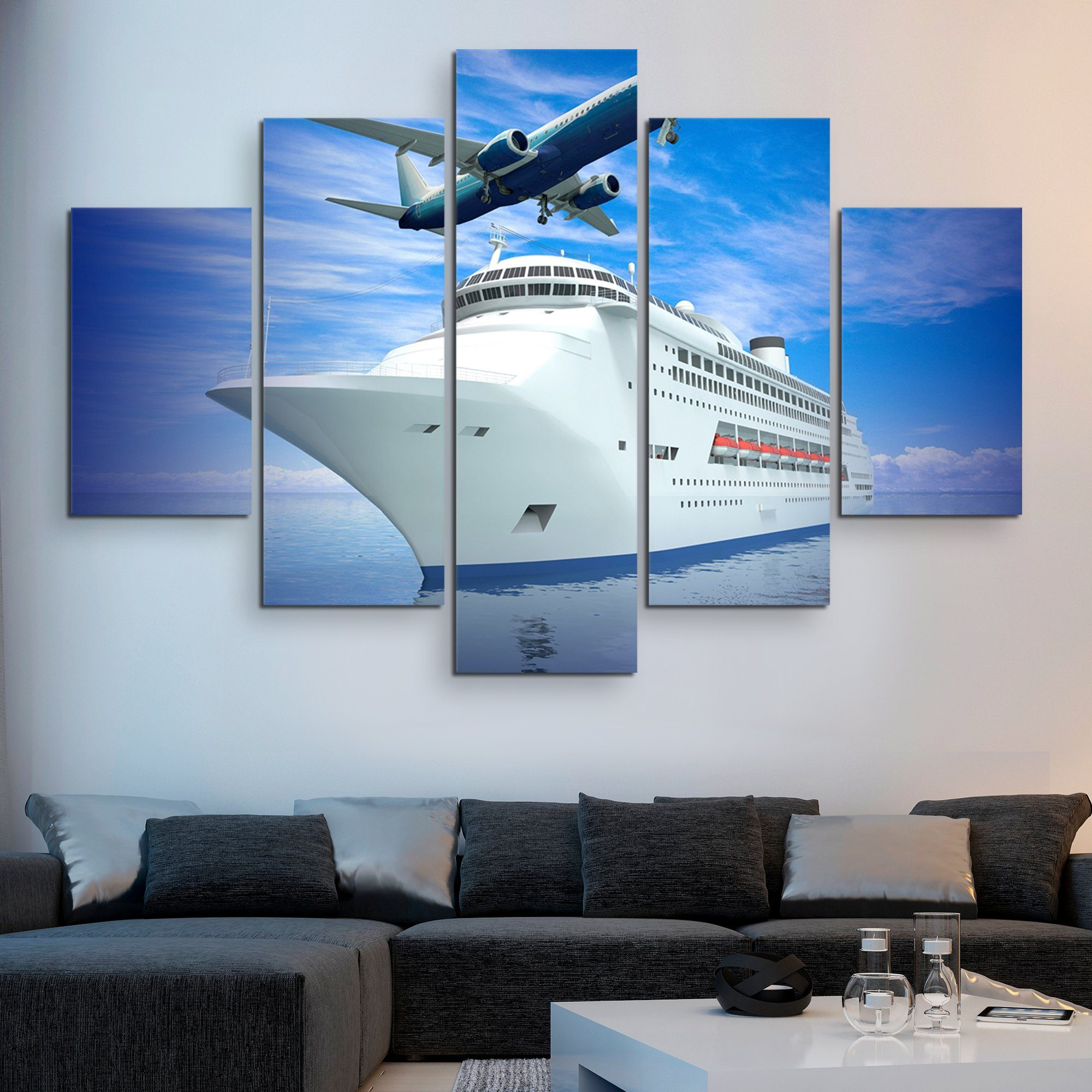 5 piece Luxury Transportation wall art