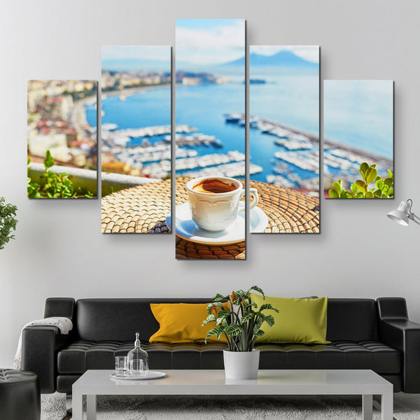5 piece Relax, Have A Cup of coffee wall art