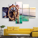 5 piece Issyk Kul Lake wall art