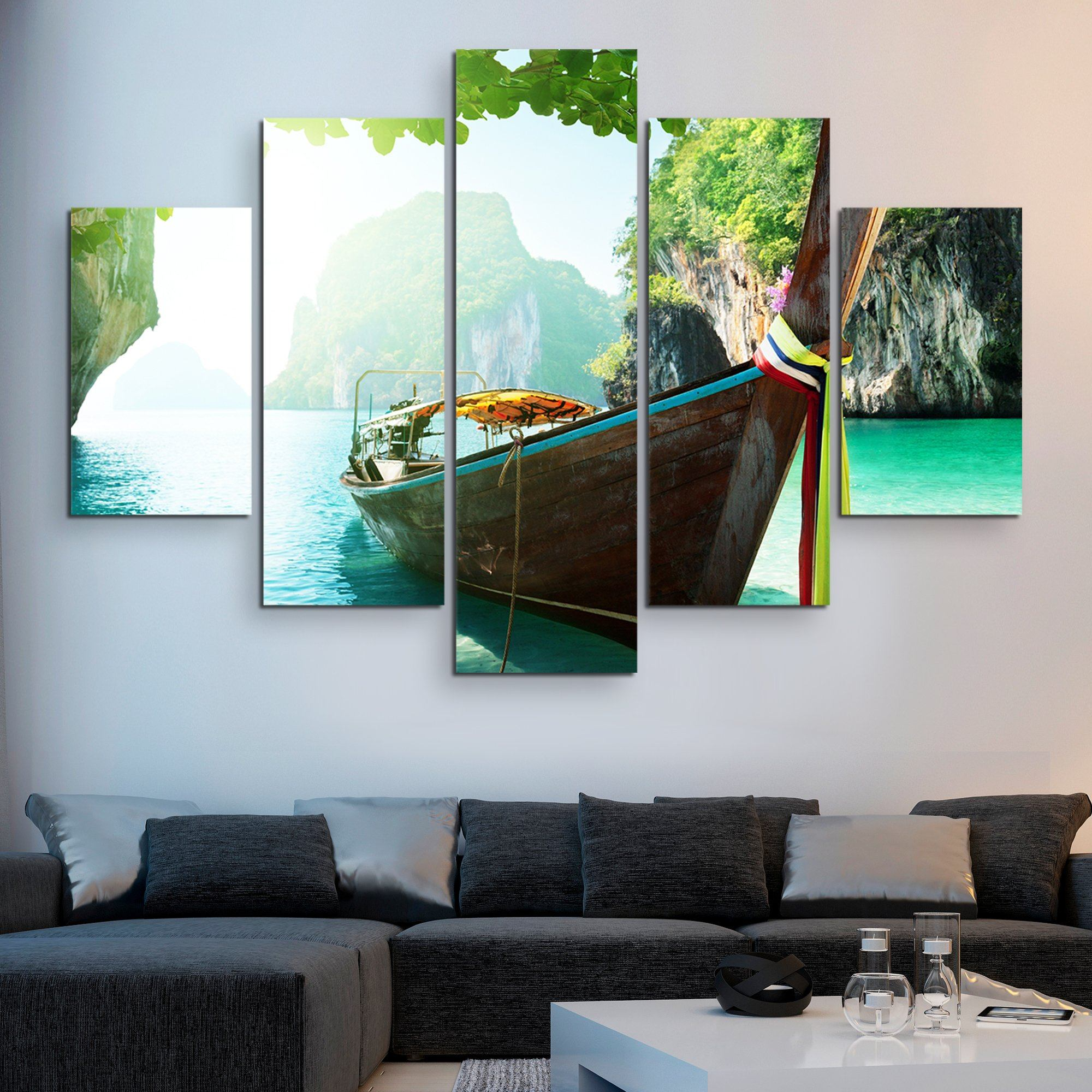 5 piece Andaman Islands wall art