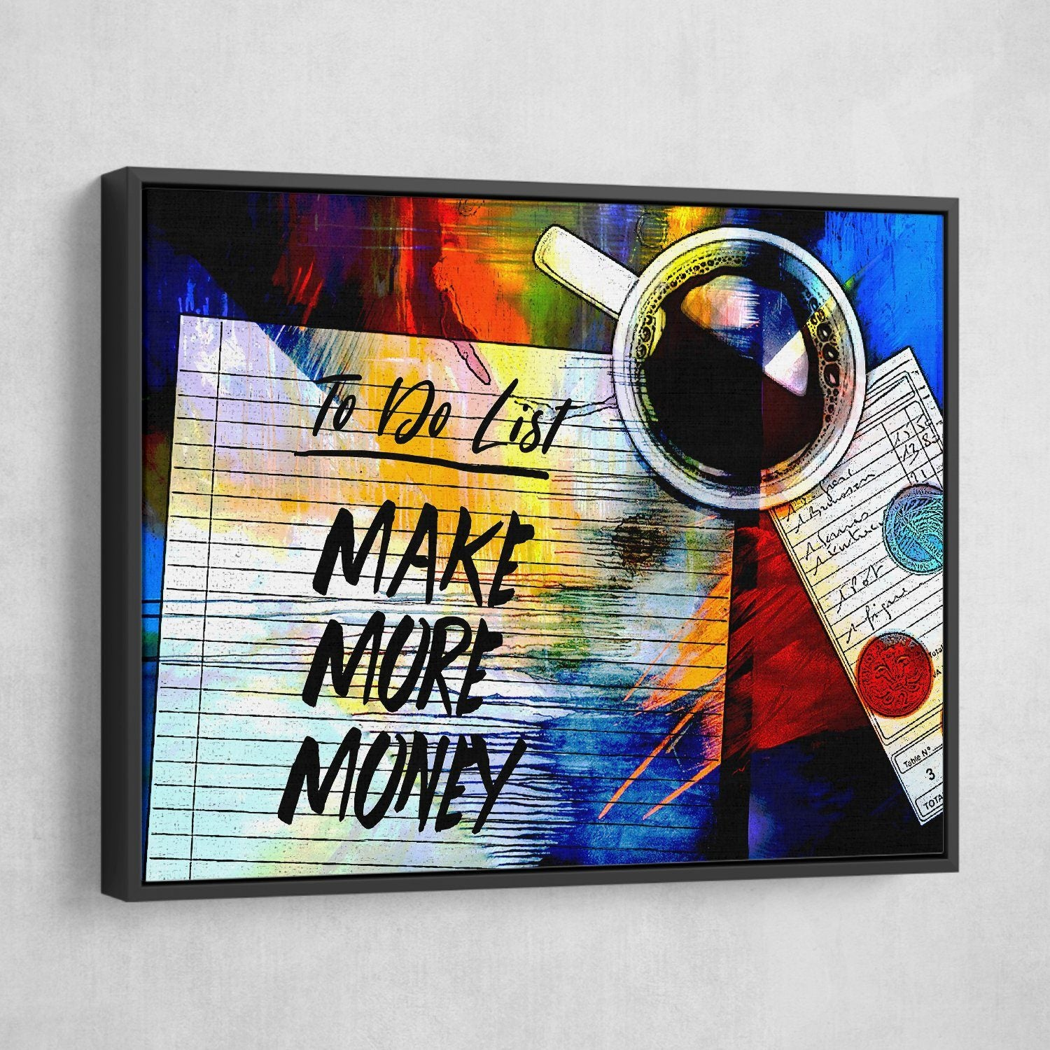 To Do List Make More Money Wall Art