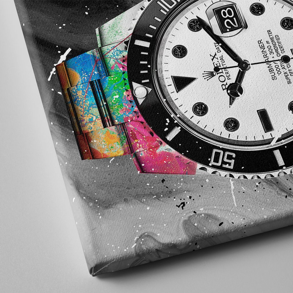 rolex submariner watch painting