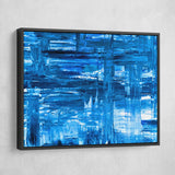 blue abstract wall art