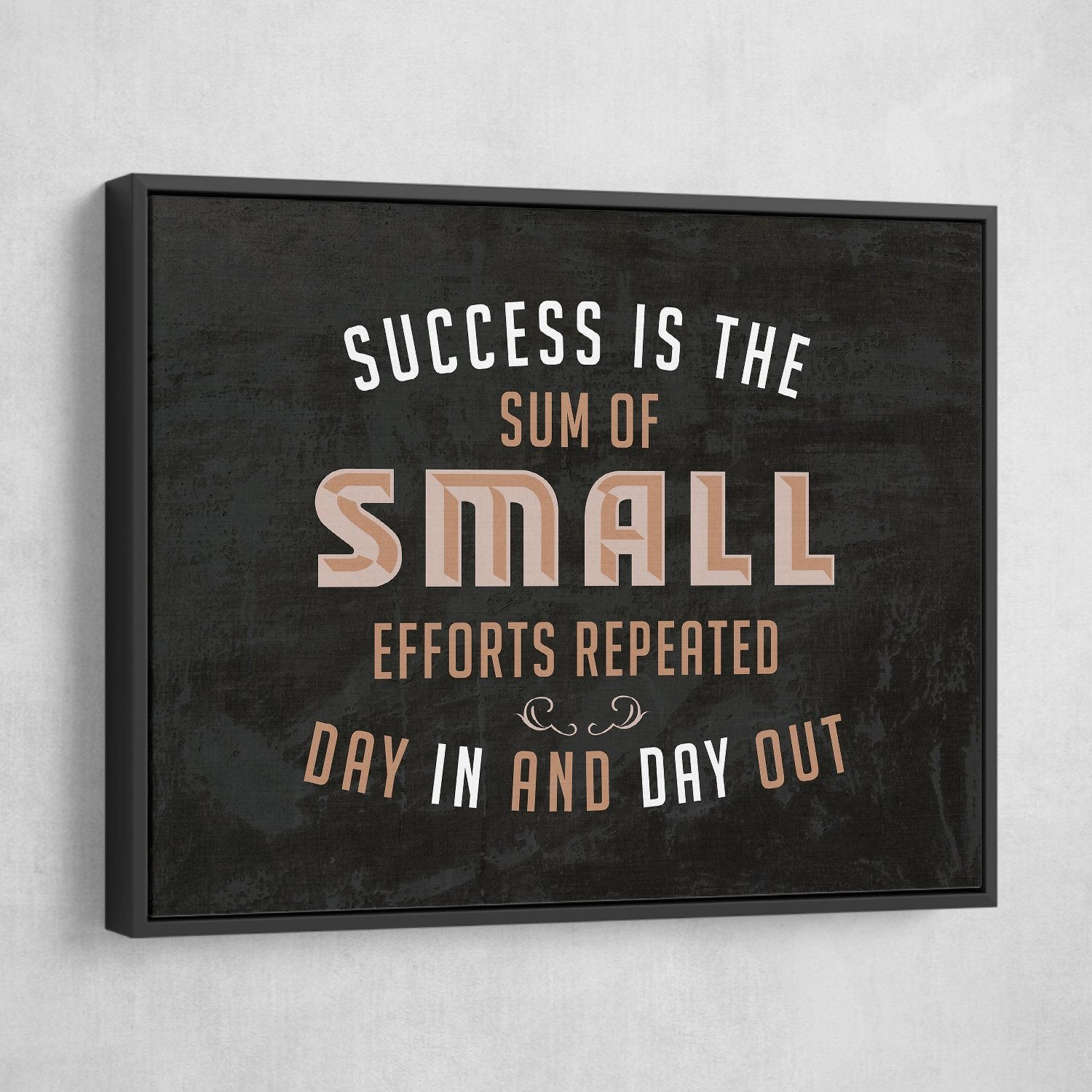 success is the sum of all small efforts repeated day in and day out wall art